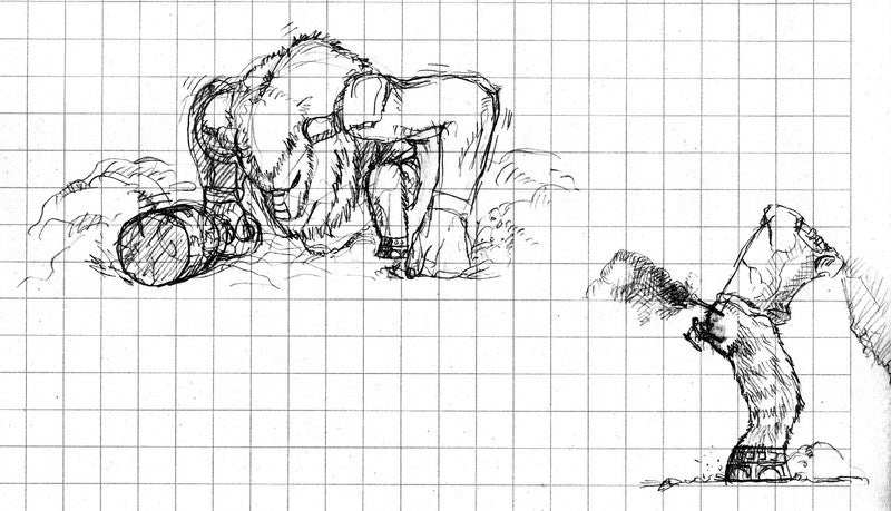 The Slightly Late Shadow Of The Colossus Concept Sketch Gallery