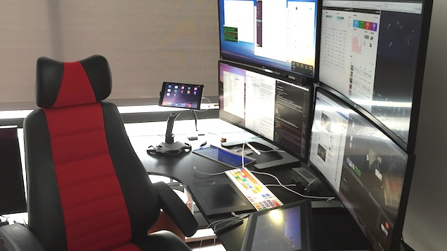 The Startup Manager's Quadruple Display Workspace