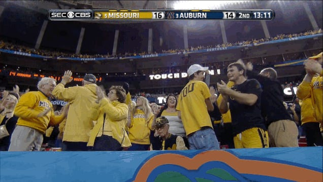 Mizzou Scores On Fumble Recovery; Old Man Does Not Give One Shit
