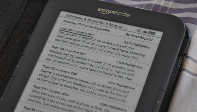 Spot a Boring Kindle Book by Looking at Popular Highlights