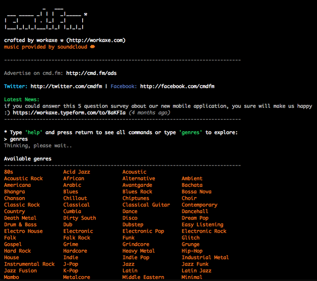 Nerd Out With This Command-Line Interface for Soundcloud