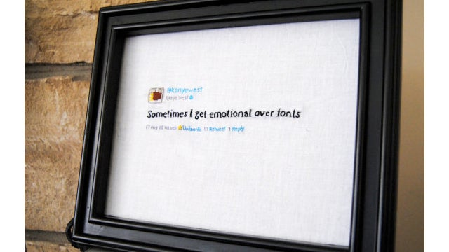 Heirloom Of The Future: Kanye West's Tweets, Embroidered