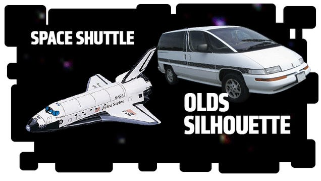Famous Spaceships And The Cars That Are Just Like Them