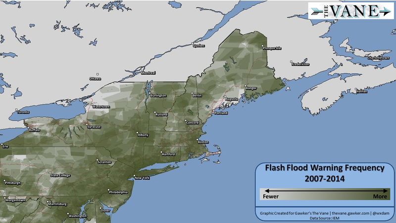 Maps: Which Parts of the U.S. See Flash Floods Most Often?