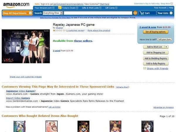 Amazon Drops Rape Simulation Video Game