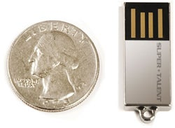 Super Talent 8GB Flash Drive is World's Smallest