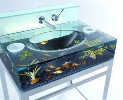 Bathroom Sink Aquarium May Not Be the Best Place to Show Off Your Fish