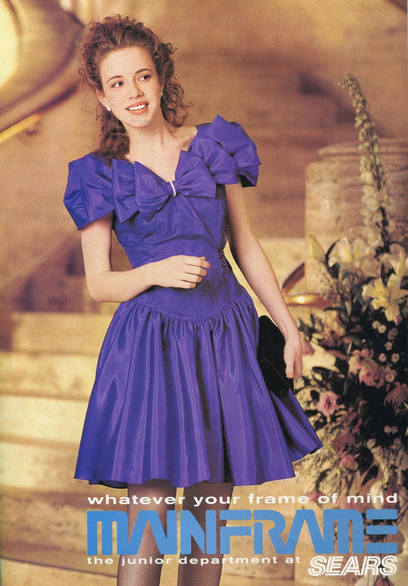 Prom fashion from 1994 according to Seventeen