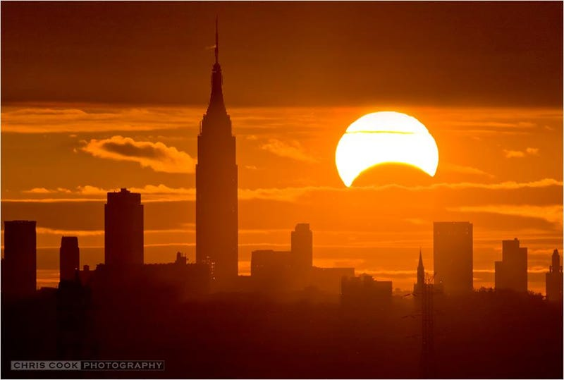 Rare Hybrid Eclipse Lights Up New York City
