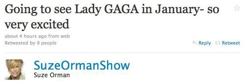 Suze Orman Is A Lady Gaga Fan