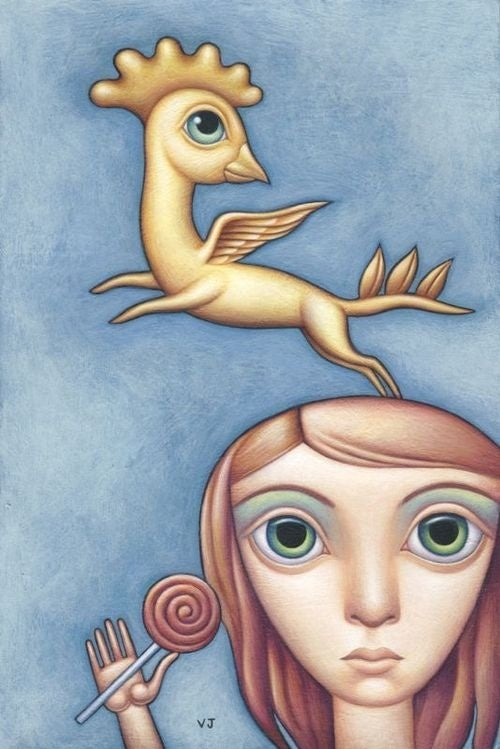 People and animals are twisted by the imagination of Valerie Jeanne