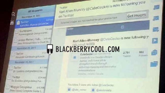 First Look at BlackBerry Playbook's Massively Late Native Email, Calendar and Contacts