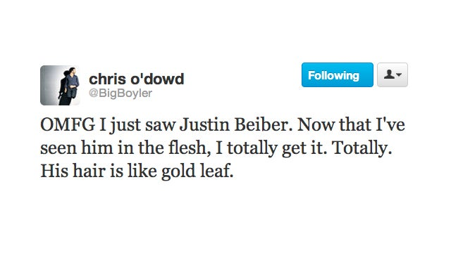 Chris O'Dowd Is a Converted Belieber