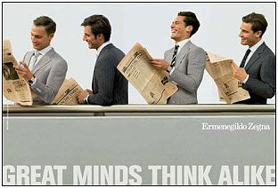 Inexplicable Ad Campaign Close-Read: Ermenegildo Zegna Dons 'FT' Halo