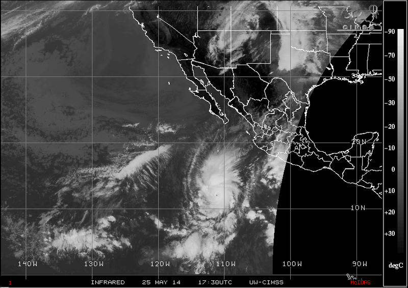 155 MPH Hurricane Amanda Breaks Record for Strongest May Storm