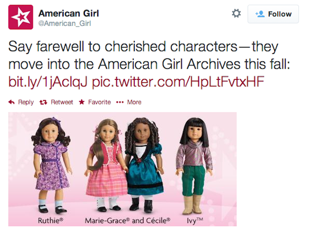 American Girl Discontinues Two Dolls of Color