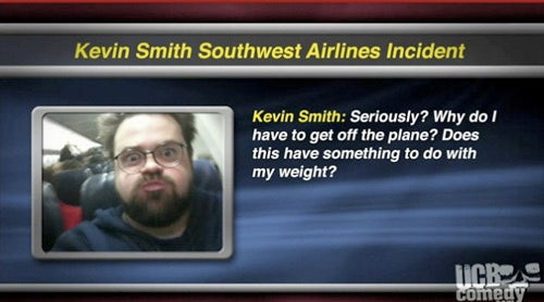 Is Kevin Smith Just Too Awful To Fly?