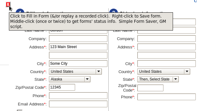 Save and Refill Any Web Form with a User Script