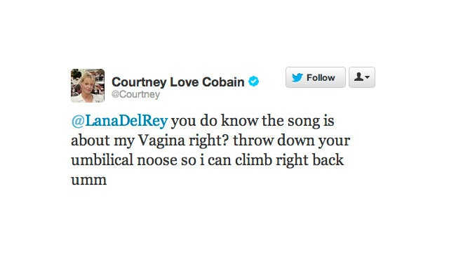 Lana Del Rey Is Singing About Courtney Love's Vagina, Says Courtney Love