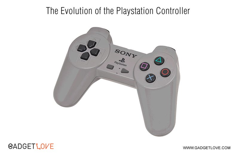 See PlayStation and Xbox Controllers Evolve Before Your Eyes
