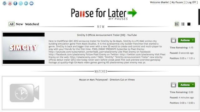 Pause for Later Saves Your Location in Web Videos So You Can Resume Where You Left Off