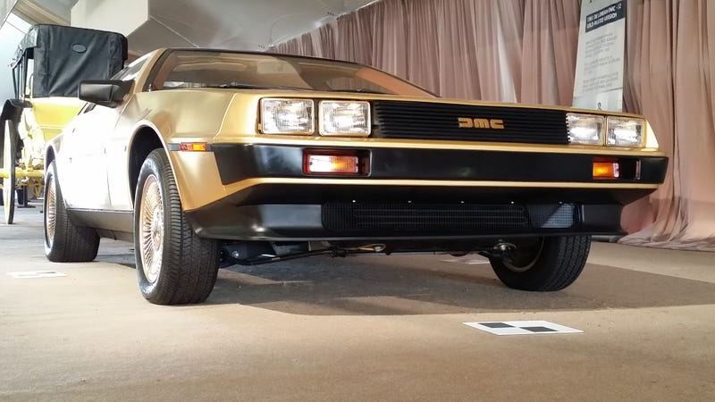 Did you know there was a factory gold DeLorean?