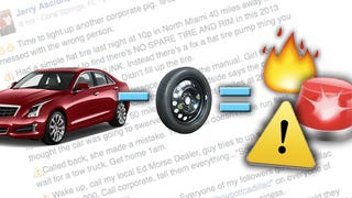 Idiot Shocked Spare Tires Aren't Standard Anymore: #BoycottCadillac