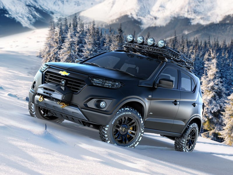 The Chevy Niva is the Russian GM mini SUV, that you gonna want