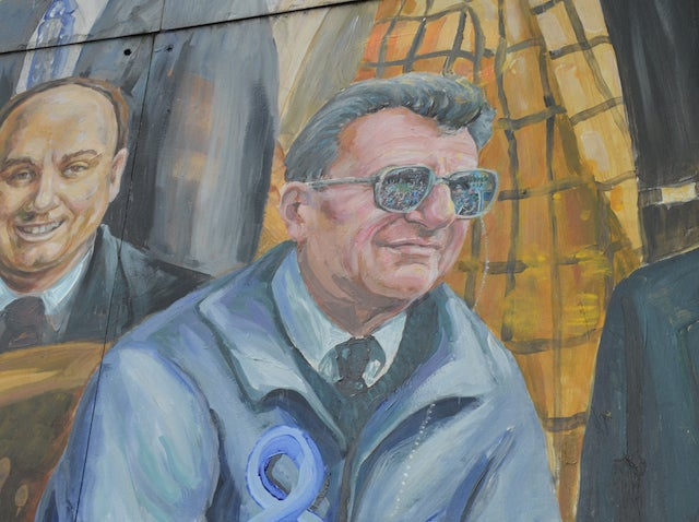 Halo Above Joe Paterno's Head Removed From Famous Penn State Mural