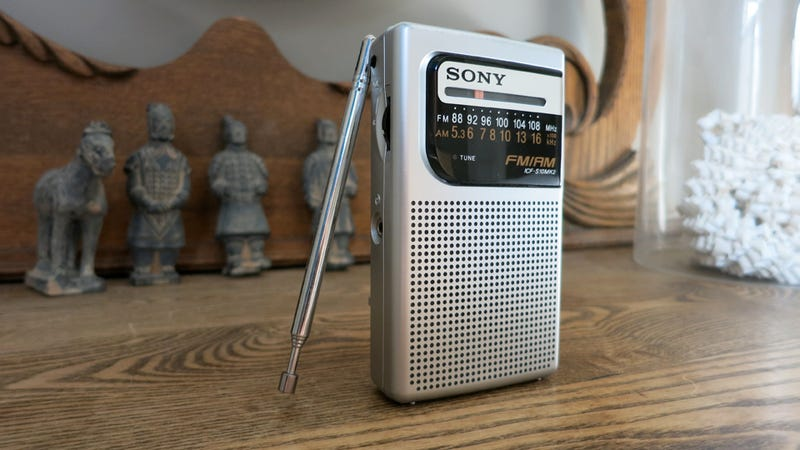 Silver Sony Pocket FM/AM Radio: As Good it Gets for a $12 Gadget