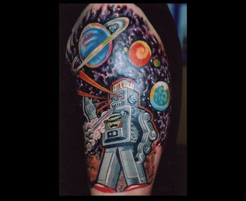 20 Robot Tattoos That You're Not Man Enough to Get