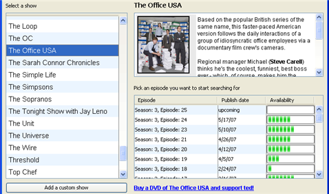 Automatically download new TV shows over BitTorrent with ted
