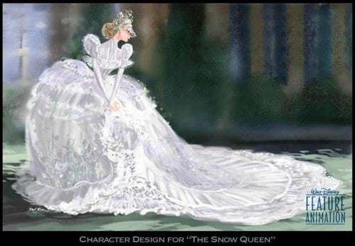 Concept art for Disney's Frozen movies shows off our new Snow Queen