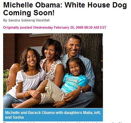 Obamas Break Dog News to People