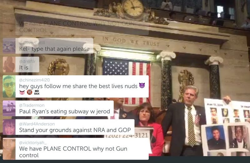 The Best Insane Periscope Comments From Last Night's Congressional Sit-In