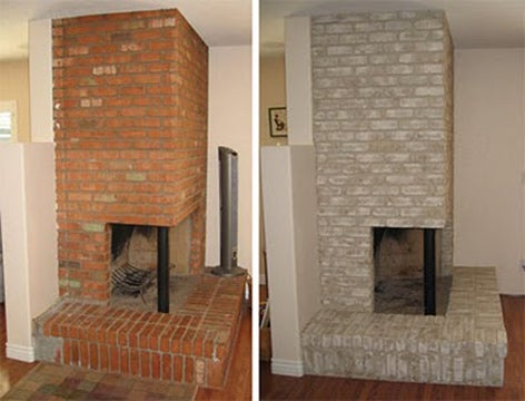 Properly paint a brick fireplace for Bricks painting design