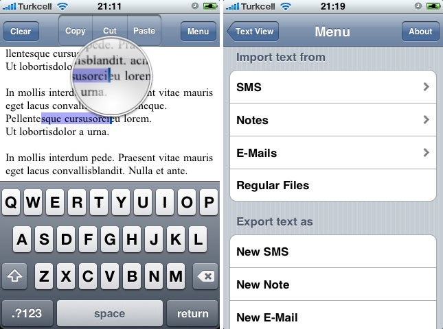 Latest iPhone Copy & Paste Stopgap CopierciN Works With SMS, Emails, Notes