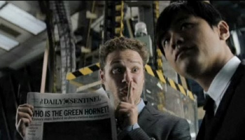 Seth Rogen leaps into action in the first Green Hornet trailer