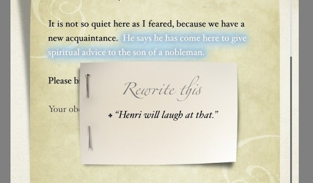 Write (And Re-Write) Letters Of Intrigue In This Fantastic Free Game