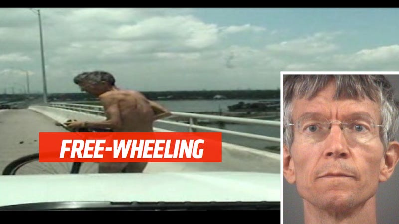 This Nude Unicyclist Was Arrested Trying To Cross A Bridge
