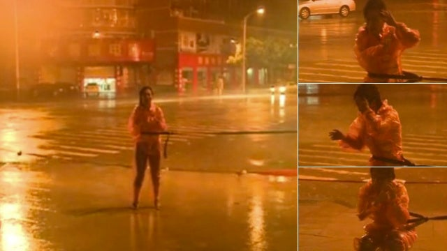 Why a Chinese Reporter Was Tied Up During a Typhoon