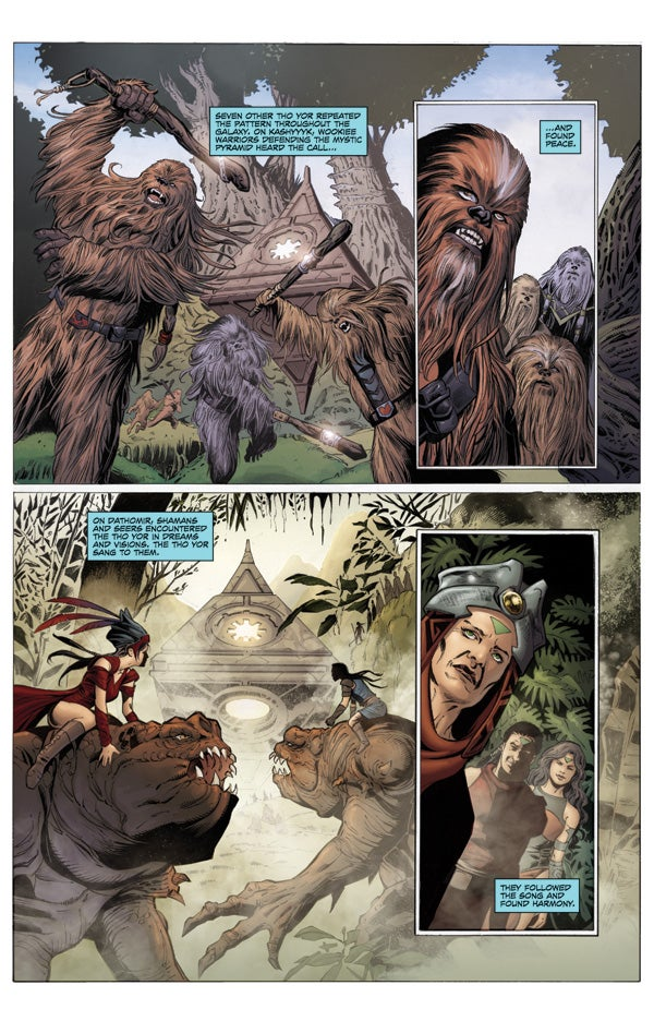 An exclusive sneak peek of Dawn of the Jedi, the mysterious new Star Wars comic!