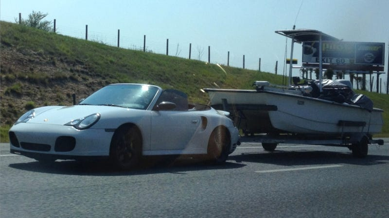 Use A Porsche To Tow A Boat