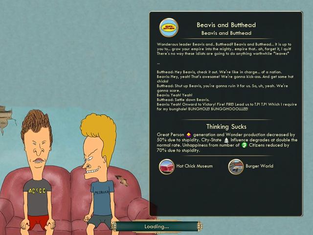 There's A Beavis & Butt-Head Mod For Civilization V. It's Brilliant.