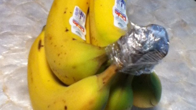 Keep Bananas Fresh Longer Using Plastic Cling Wrap