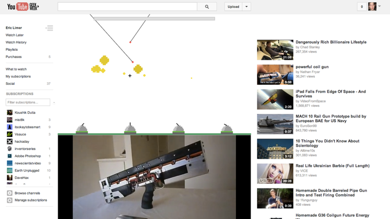 YouTube's Awesome New Easter Egg Lets You Play Missile Command