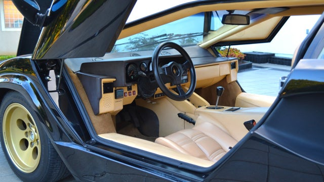 Go back in time with this 1987 Lamborghini Countach 5000 QV