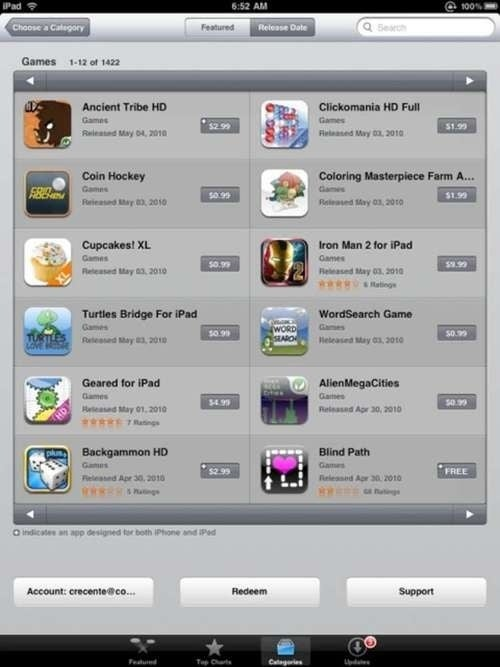 Apple Quietly Fixes iPad's Broken App Store Revealing 1,422 Games