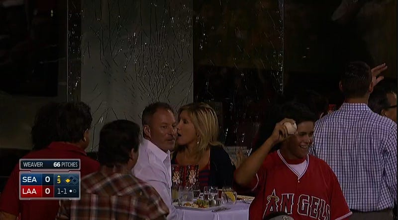 Foul Ball Breaks Glass In Dining Area At Angel Stadium