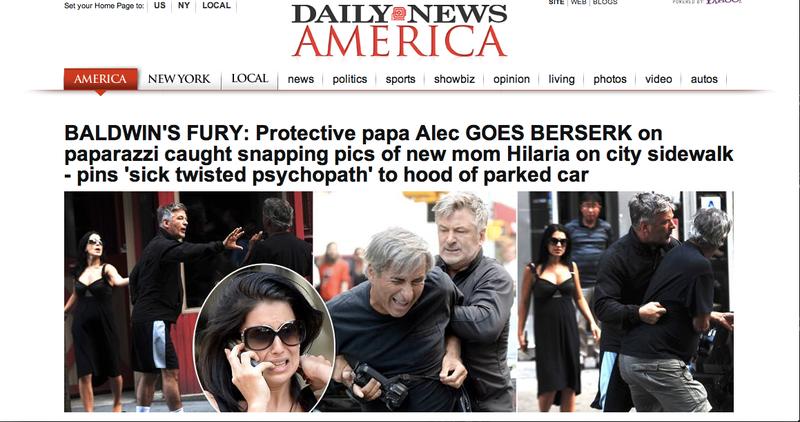 Alec Baldwin Flips Out on Paparazzo, Pinning Him to Car